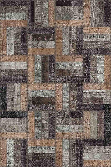 Vloerkleed Patch Collection - 15-006 Rotin - Handgeknoopt Patchwork-tapijt. Samenstelling: 50% wol + 50% katoen. Rug (gelijmd en genaaid): 100% katoen. Indien niet in voorraad is de levertijd circa 5 weken. Maatwerk mogelijk.