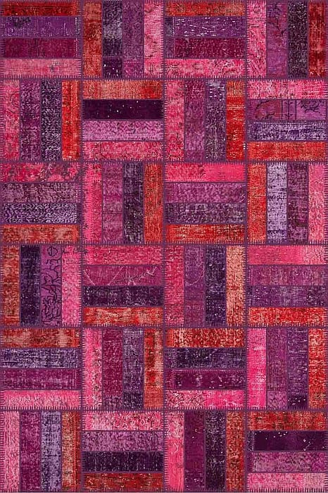 Vloerkleed Patch Collection - 15-007 Rotin - Handgeknoopt Patchwork-tapijt. Samenstelling: 50% wol + 50% katoen. Rug (gelijmd en genaaid): 100% katoen. Indien niet in voorraad is de levertijd circa 5 weken. Maatwerk mogelijk.