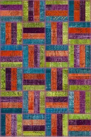 Vloerkleed Patch Collection - 15-009 Rotin - Handgeknoopt Patchwork-tapijt. Samenstelling: 50% wol + 50% katoen. Rug (gelijmd en genaaid): 100% katoen. Indien niet in voorraad is de levertijd circa 5 weken. Maatwerk mogelijk.