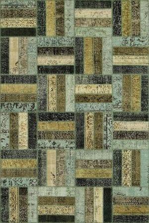 Vloerkleed Patch Collection - 15-015 Rotin - Handgeknoopt Patchwork-tapijt. Samenstelling: 50% wol + 50% katoen. Rug (gelijmd en genaaid): 100% katoen. Indien niet in voorraad is de levertijd circa 5 weken. Maatwerk mogelijk.