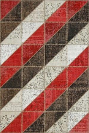 Vloerkleed Patch Collection - 16-001 Clivus - Handgeknoopt Patchwork-tapijt. Samenstelling: 50% wol + 50% katoen. Rug (gelijmd en genaaid): 100% katoen. Indien niet in voorraad is de levertijd circa 5 weken. Maatwerk mogelijk.
