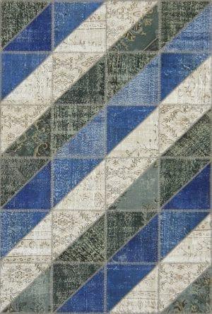 Vloerkleed Patch Collection - 16-002 Clivus - Handgeknoopt Patchwork-tapijt. Samenstelling: 50% wol + 50% katoen. Rug (gelijmd en genaaid): 100% katoen. Indien niet in voorraad is de levertijd circa 5 weken. Maatwerk mogelijk.