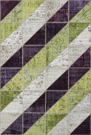 Vloerkleed Patch Collection - 16-004 Clivus - Handgeknoopt Patchwork-tapijt. Samenstelling: 50% wol + 50% katoen. Rug (gelijmd en genaaid): 100% katoen. Indien niet in voorraad is de levertijd circa 5 weken. Maatwerk mogelijk.