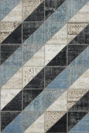 Vloerkleed Patch Collection - 16-005 Clivus - Handgeknoopt Patchwork-tapijt. Samenstelling: 50% wol + 50% katoen. Rug (gelijmd en genaaid): 100% katoen. Indien niet in voorraad is de levertijd circa 5 weken. Maatwerk mogelijk.
