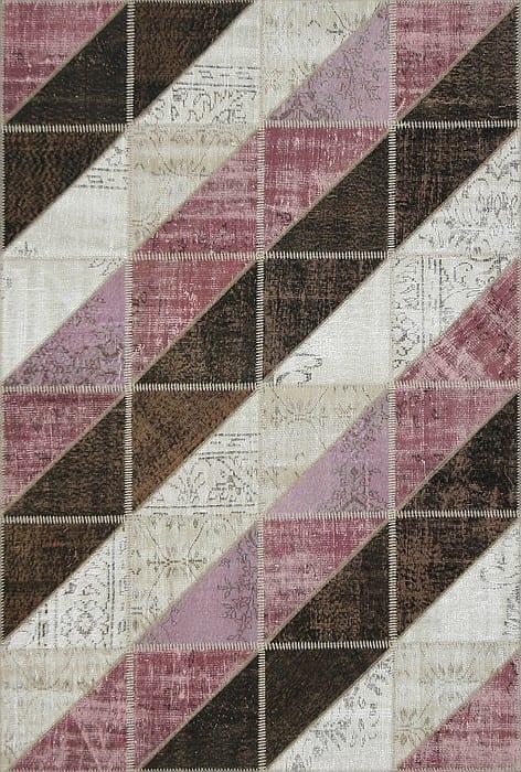 Vloerkleed Patch Collection - 16-006 Clivus - Handgeknoopt Patchwork-tapijt. Samenstelling: 50% wol + 50% katoen. Rug (gelijmd en genaaid): 100% katoen. Indien niet in voorraad is de levertijd circa 5 weken. Maatwerk mogelijk.