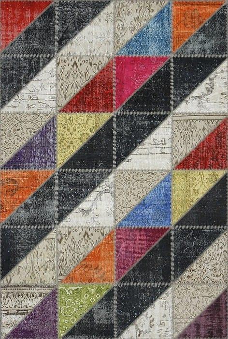 Vloerkleed Patch Collection - 16-007 Clivus - Handgeknoopt Patchwork-tapijt. Samenstelling: 50% wol + 50% katoen. Rug (gelijmd en genaaid): 100% katoen. Indien niet in voorraad is de levertijd circa 5 weken. Maatwerk mogelijk.