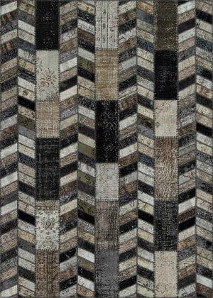 Vloerkleed Patch Collection - 18-003 Rivus - Handgeknoopt Patchwork-tapijt. Samenstelling: 50% wol + 50% katoen. Rug (gelijmd en genaaid): 100% katoen. Indien niet in voorraad is de levertijd circa 5 weken.