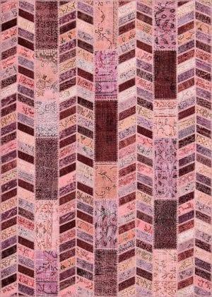 Vloerkleed Patch Collection - 18-005 Rivus - Handgeknoopt Patchwork-tapijt. Samenstelling: 50% wol + 50% katoen. Rug (gelijmd en genaaid): 100% katoen. Indien niet in voorraad is de levertijd circa 5 weken.