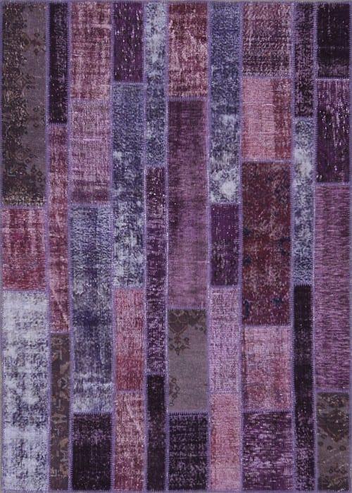 Vloerkleed Patch Collection - 2 - 002 Nieuw - Handgeknoopt Patchwork-tapijt. Samenstelling: 50% wol + 50% katoen. Rug (gelijmd en genaaid): 100% katoen. Indien niet in voorraad is de levertijd circa 5 weken. Maatwerk mogelijk.