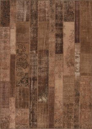 Vloerkleed Patch Collection - 2 - 005 Nieuw - Handgeknoopt Patchwork-tapijt. Samenstelling: 50% wol + 50% katoen. Rug (gelijmd en genaaid): 100% katoen. Indien niet in voorraad is de levertijd circa 5 weken. Maatwerk mogelijk.