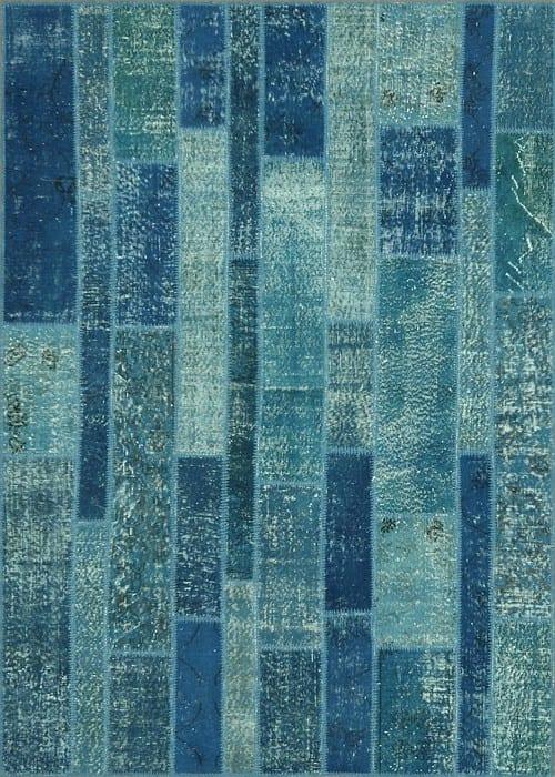 Vloerkleed Patch Collection - 2 - 006 Nieuw - Handgeknoopt Patchwork-tapijt. Samenstelling: 50% wol + 50% katoen. Rug (gelijmd en genaaid): 100% katoen. Indien niet in voorraad is de levertijd circa 5 weken. Maatwerk mogelijk.