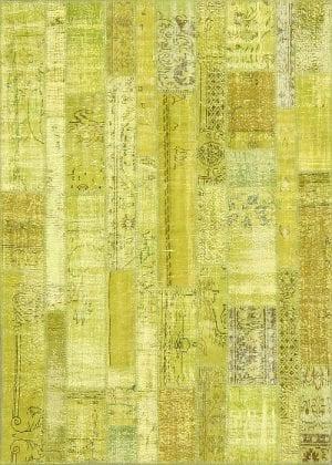 Vloerkleed Patch Collection - 2 - 008 Nieuw - Handgeknoopt Patchwork-tapijt. Samenstelling: 50% wol + 50% katoen. Rug (gelijmd en genaaid): 100% katoen. Indien niet in voorraad is de levertijd circa 5 weken. Maatwerk mogelijk.