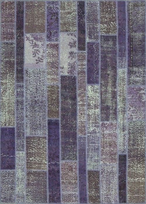 Vloerkleed Patch Collection - 2 - 009 Nieuw - Handgeknoopt Patchwork-tapijt. Samenstelling: 50% wol + 50% katoen. Rug (gelijmd en genaaid): 100% katoen. Indien niet in voorraad is de levertijd circa 5 weken. Maatwerk mogelijk.