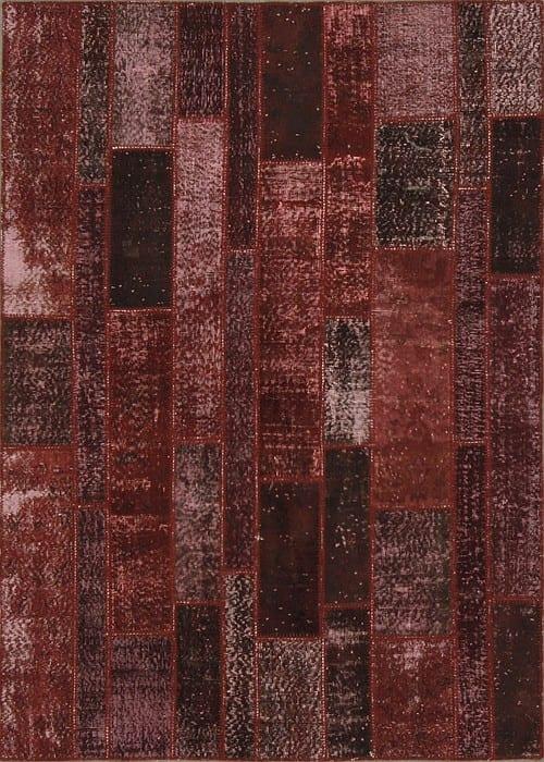 Vloerkleed Patch Collection - 2 - 010 Nieuw - Handgeknoopt Patchwork-tapijt. Samenstelling: 50% wol + 50% katoen. Rug (gelijmd en genaaid): 100% katoen. Indien niet in voorraad is de levertijd circa 5 weken. Maatwerk mogelijk.