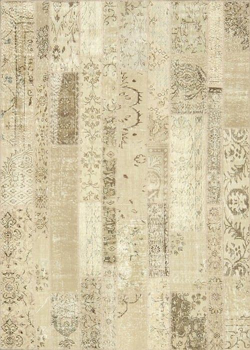 Vloerkleed Patch Collection - 2 - 011 Nieuw - Handgeknoopt Patchwork-tapijt. Samenstelling: 50% wol + 50% katoen. Rug (gelijmd en genaaid): 100% katoen. Indien niet in voorraad is de levertijd circa 5 weken. Maatwerk mogelijk.