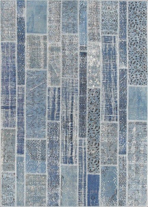 Vloerkleed Patch Collection - 2 - 014 Nieuw - Handgeknoopt Patchwork-tapijt. Samenstelling: 50% wol + 50% katoen. Rug (gelijmd en genaaid): 100% katoen. Indien niet in voorraad is de levertijd circa 5 weken. Maatwerk mogelijk.