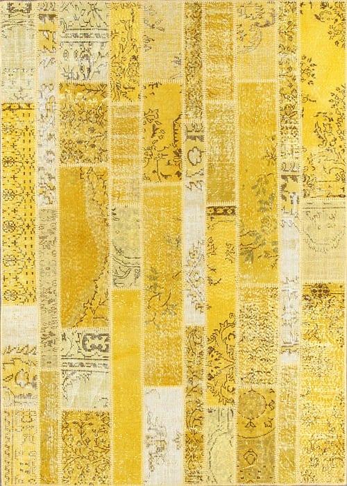 Vloerkleed Patch Collection - 2 - 017 Nieuw - Handgeknoopt Patchwork-tapijt. Samenstelling: 50% wol + 50% katoen. Rug (gelijmd en genaaid): 100% katoen. Indien niet in voorraad is de levertijd circa 5 weken. Maatwerk mogelijk.