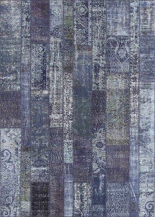Vloerkleed Patch Collection - 2 - 018 Nieuw - Handgeknoopt Patchwork-tapijt. Samenstelling: 50% wol + 50% katoen. Rug (gelijmd en genaaid): 100% katoen. Indien niet in voorraad is de levertijd circa 5 weken. Maatwerk mogelijk.