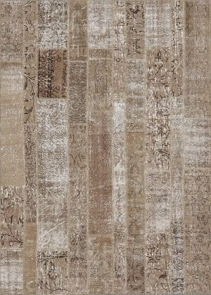 Vloerkleed Patch Collection - 2 - 020 Nieuw - Handgeknoopt Patchwork-tapijt. Samenstelling: 50% wol + 50% katoen. Rug (gelijmd en genaaid): 100% katoen. Indien niet in voorraad is de levertijd circa 5 weken. Maatwerk mogelijk.