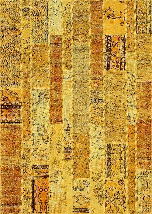 Vloerkleed Patch Collection - 2 - 031 Nieuw - handgeknoopt Patchwork-tapijt. Samenstelling: 50% wol + 50% katoen. Rug (gelijmd en genaaid): 100% katoen. Indien niet in voorraad is de levertijd circa 5 weken. Maatwerk mogelijk.