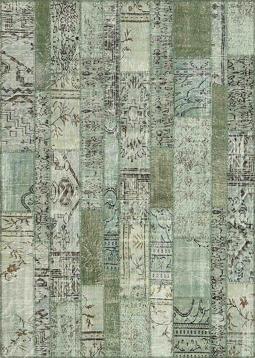 Vloerkleed Patch Collection - 2 - 033 Nieuw - handgeknoopt Patchwork-tapijt. Samenstelling: 50% wol + 50% katoen. Rug (gelijmd en genaaid): 100% katoen. Indien niet in voorraad is de levertijd circa 5 weken. Maatwerk mogelijk.