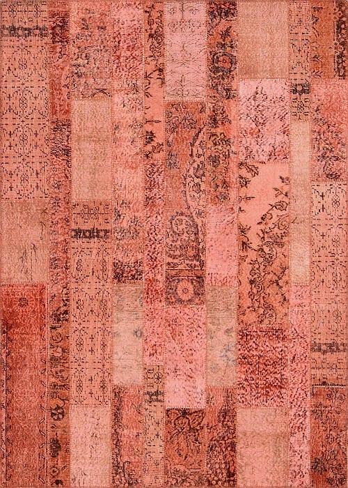 Vloerkleed Patch Collection - 2 - 034 Nieuw - handgeknoopt Patchwork-tapijt. Samenstelling: 50% wol + 50% katoen. Rug (gelijmd en genaaid): 100% katoen. Indien niet in voorraad is de levertijd circa 5 weken. Maatwerk mogelijk.