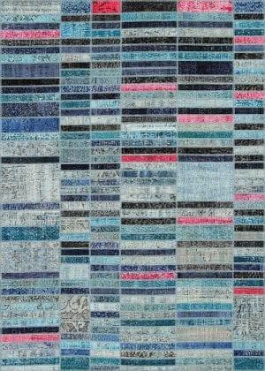 Vloerkleed Patch Collection - 20-002 Blend - Handgeknoopt Patchwork-tapijt. Samenstelling: 50% wol + 50% katoen. Rug (gelijmd en genaaid): 100% katoen. Indien niet in voorraad is de levertijd circa 5 weken. Maatwerk mogelijk.
