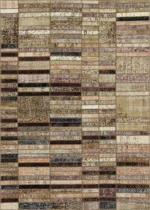 Vloerkleed Patch Collection - 20-004 Blend - Handgeknoopt Patchwork-tapijt. Samenstelling: 50% wol + 50% katoen. Rug (gelijmd en genaaid): 100% katoen. Indien niet in voorraad is de levertijd circa 5 weken. Maatwerk mogelijk.