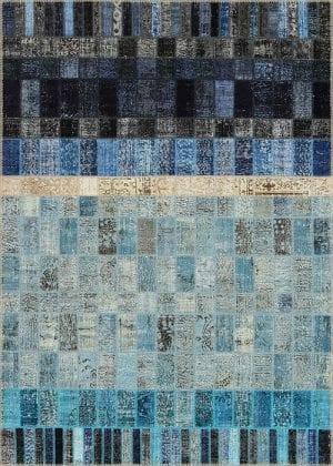 Vloerkleed Patch Collection - 21-002 Concept - Handgeknoopt Patchwork-tapijt. Samenstelling: 50% wol + 50% katoen. Rug (gelijmd en genaaid): 100% katoen. Indien niet in voorraad is de levertijd circa 5 weken. Maatwerk mogelijk.