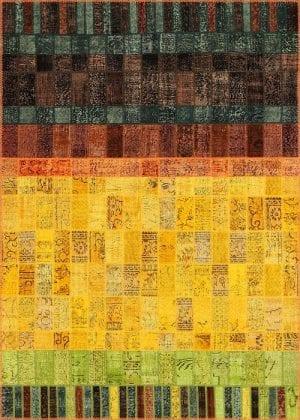 Vloerkleed Patch Collection - 21-003 Concept - Handgeknoopt Patchwork-tapijt. Samenstelling: 50% wol + 50% katoen. Rug (gelijmd en genaaid): 100% katoen. Indien niet in voorraad is de levertijd circa 5 weken. Maatwerk mogelijk.