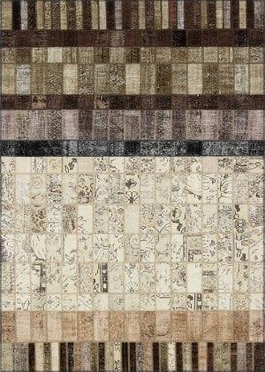 Vloerkleed Patch Collection - 21-005 Concept - Handgeknoopt Patchwork-tapijt. Samenstelling: 50% wol + 50% katoen. Rug (gelijmd en genaaid): 100% katoen. Indien niet in voorraad is de levertijd circa 5 weken. Maatwerk mogelijk.