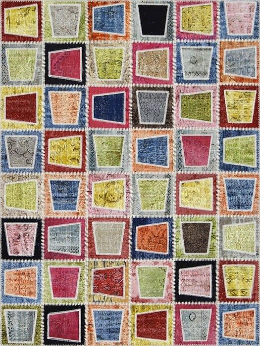 Vloerkleed Patch Collection - 3 - 001 Nieuw - Handgeknoopt Patchwork-tapijt. Samenstelling: 50% wol + 50% katoen. Rug (gelijmd en genaaid): 100% katoen. Indien niet in voorraad is de levertijd circa 5 weken. Maatwerk mogelijk.