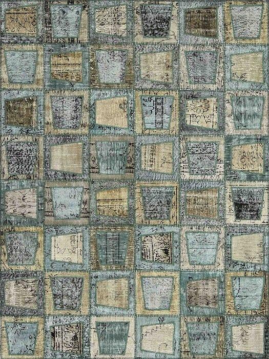 Vloerkleed Patch Collection - 3 - 006 Nieuw - Handgeknoopt Patchwork-tapijt. Samenstelling: 50% wol + 50% katoen. Rug (gelijmd en genaaid): 100% katoen. Indien niet in voorraad is de levertijd circa 5 weken. Maatwerk mogelijk.