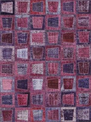 Vloerkleed Patch Collection - 3 - 606 Nieuw - Handgeknoopt Patchwork-tapijt. Samenstelling: 50% wol + 50% katoen. Rug (gelijmd en genaaid): 100% katoen. Indien niet in voorraad is de levertijd circa 5 weken. Maatwerk mogelijk.