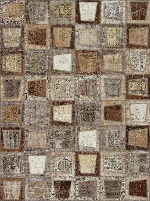 Vloerkleed Patch Collection - 3 - 607 Nieuw - Handgeknoopt Patchwork-tapijt. Samenstelling: 50% wol + 50% katoen. Rug (gelijmd en genaaid): 100% katoen. Indien niet in voorraad is de levertijd circa 5 weken. Maatwerk mogelijk.