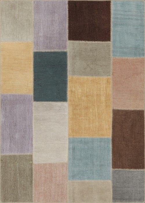 Vloerkleed Patch Collection - 5 - 250 Nieuw - Handgeweven Patchwork-tapijt. Samenstelling: 100% hennep. Rug (gelijmd en genaaid): 100% katoen. Indien niet in voorraad is de levertijd circa 5 weken. Maatwerk mogelijk.