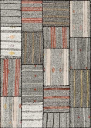 Vloerkleed Patch Collection - 6 - 301 Nieuw - Handgeweven Patchwork-tapijt. Samenstelling: 50% geiten wol + 50% katoen. Rug (gelijmd en genaaid): 100% katoen. Indien niet in voorraad is de levertijd circa 5 weken. Maatwerk mogelijk.