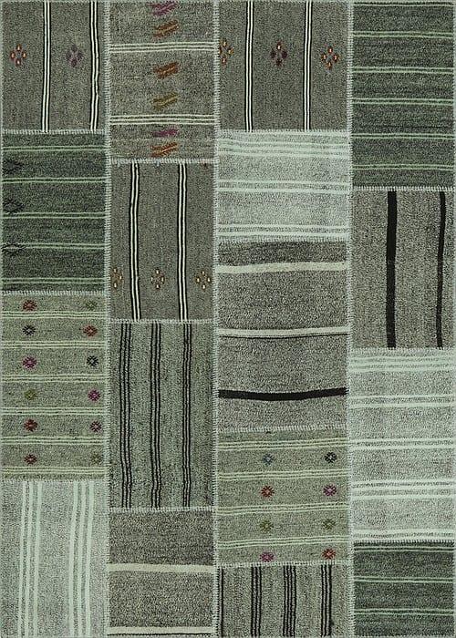 Vloerkleed Patch Collection - 6 - 302 Nieuw - Handgeweven Patchwork-tapijt. Samenstelling: 50% geiten wol + 50% katoen. Rug (gelijmd en genaaid): 100% katoen. Indien niet in voorraad is de levertijd circa 5 weken. Maatwerk mogelijk.