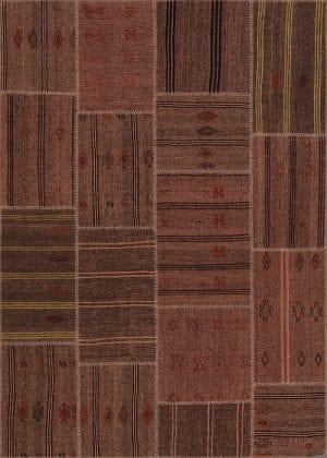 Vloerkleed Patch Collection - 6 - 305 Nieuw - Handgeweven Patchwork-tapijt. Samenstelling: 50% geiten wol + 50% katoen. Rug (gelijmd en genaaid): 100% katoen. Indien niet in voorraad is de levertijd circa 5 weken. Maatwerk mogelijk.