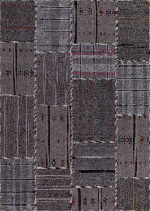 Vloerkleed Patch Collection - 6 - 306 Nieuw - Handgeweven Patchwork-tapijt. Samenstelling: 50% geiten wol + 50% katoen. Rug (gelijmd en genaaid): 100% katoen. Indien niet in voorraad is de levertijd circa 5 weken. Maatwerk mogelijk.