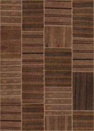 Vloerkleed Patch Collection - 6 - 307 Nieuw - Handgeweven Patchwork-tapijt. Samenstelling: 50% geiten wol + 50% katoen. Rug (gelijmd en genaaid): 100% katoen. Indien niet in voorraad is de levertijd circa 5 weken. Maatwerk mogelijk.