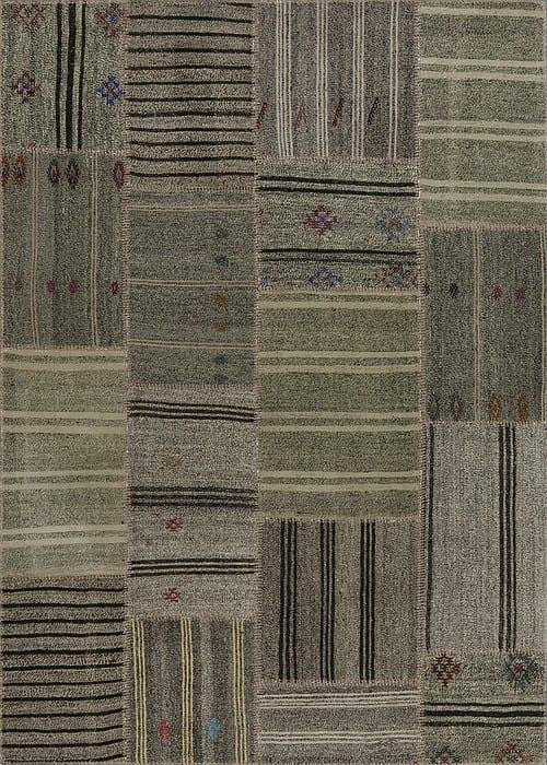 Vloerkleed Patch Collection - 6 - 308 Nieuw - Handgeweven Patchwork-tapijt. Samenstelling: 50% geiten wol + 50% katoen. Rug (gelijmd en genaaid): 100% katoen. Indien niet in voorraad is de levertijd circa 5 weken. Maatwerk mogelijk.
