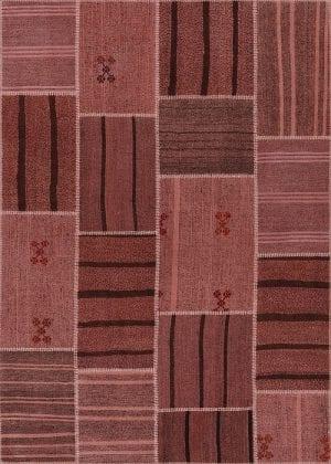 Vloerkleed Patch Collection - 6 - 310 Nieuw - Handgeweven Patchwork-tapijt. Samenstelling: 50% geiten wol + 50% katoen. Rug (gelijmd en genaaid): 100% katoen. Indien niet in voorraad is de levertijd circa 5 weken. Maatwerk mogelijk.