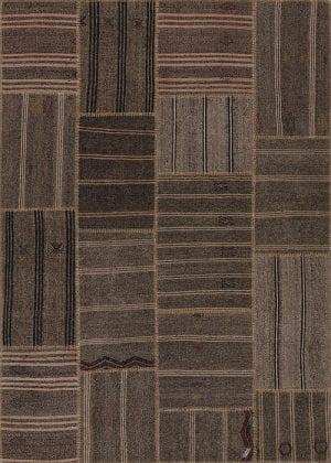 Vloerkleed Patch Collection - 6 - 311 Nieuw - Handgeweven Patchwork-tapijt. Samenstelling: 50% geiten wol + 50% katoen. Rug (gelijmd en genaaid): 100% katoen. Indien niet in voorraad is de levertijd circa 5 weken. Maatwerk mogelijk.