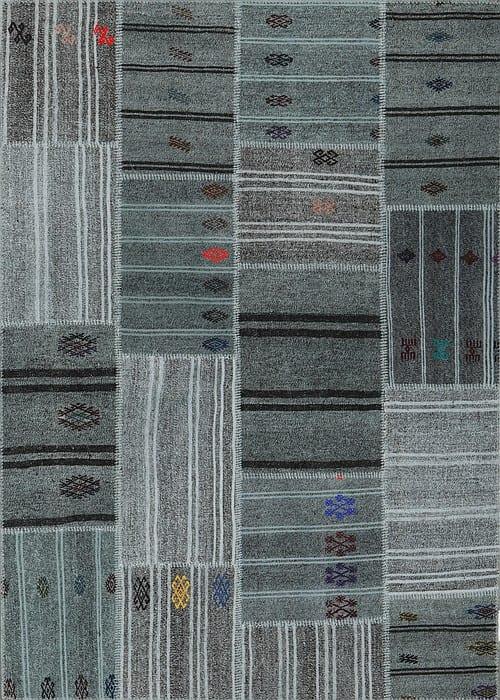 Vloerkleed Patch Collection - 6 - 313 Nieuw - Handgeweven Patchwork-tapijt. Samenstelling: 50% geiten wol + 50% katoen. Rug (gelijmd en genaaid): 100% katoen. Indien niet in voorraad is de levertijd circa 5 weken. Maatwerk mogelijk.