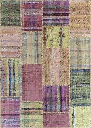 Vloerkleed Patch Collection - 8 - 250 Nieuw - Handgeweven Patchwork-tapijt. Samenstelling: 80% katoen + 10% wol + 10% geiten wol. Rug (gelijmd en genaaid): 100% katoen. Indien niet in voorraad is de levertijd circa 5 weken. Maatwerk mogelijk.