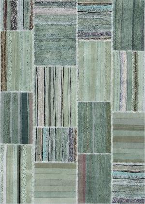 Vloerkleed Patch Collection - 8 - 302 Nieuw - Handgeweven Patchwork-tapijt. Samenstelling: 80% katoen + 10% wol + 10% geiten wol. Rug (gelijmd en genaaid): 100% katoen. Indien niet in voorraad is de levertijd circa 5 weken. Maatwerk mogelijk.