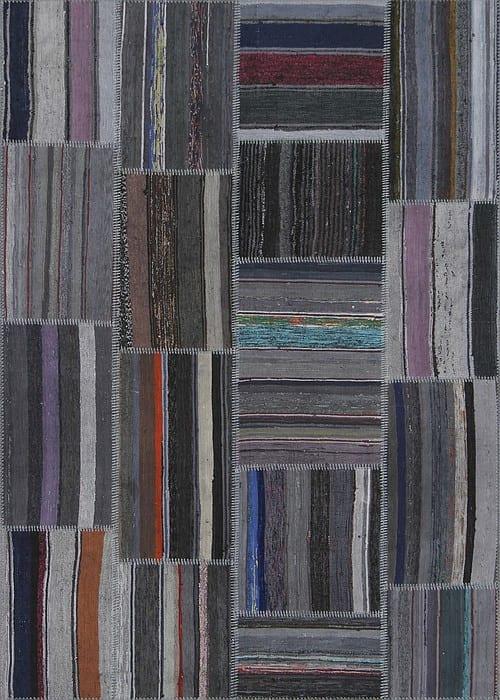Vloerkleed Patch Collection - 8 - 303 Nieuw - Handgeweven Patchwork-tapijt. Samenstelling: 80% katoen + 10% wol + 10% geiten wol. Rug (gelijmd en genaaid): 100% katoen. Indien niet in voorraad is de levertijd circa 5 weken. Maatwerk mogelijk.