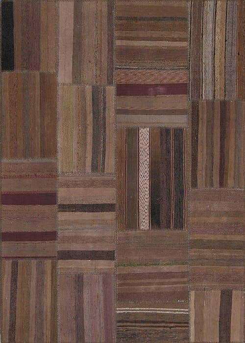 Vloerkleed Patch Collection - 8 - 304 Nieuw - Handgeweven Patchwork-tapijt. Samenstelling: 80% katoen + 10% wol + 10% geiten wol. Rug (gelijmd en genaaid): 100% katoen. Indien niet in voorraad is de levertijd circa 5 weken. Maatwerk mogelijk.