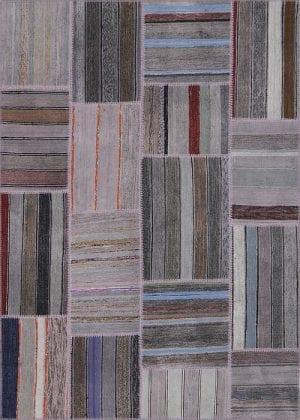 Vloerkleed Patch Collection - 8 - 306 Nieuw - Handgeweven Patchwork-tapijt. Samenstelling: 80% katoen + 10% wol + 10% geiten wol. Rug (gelijmd en genaaid): 100% katoen. Indien niet in voorraad is de levertijd circa 5 weken. Maatwerk mogelijk.